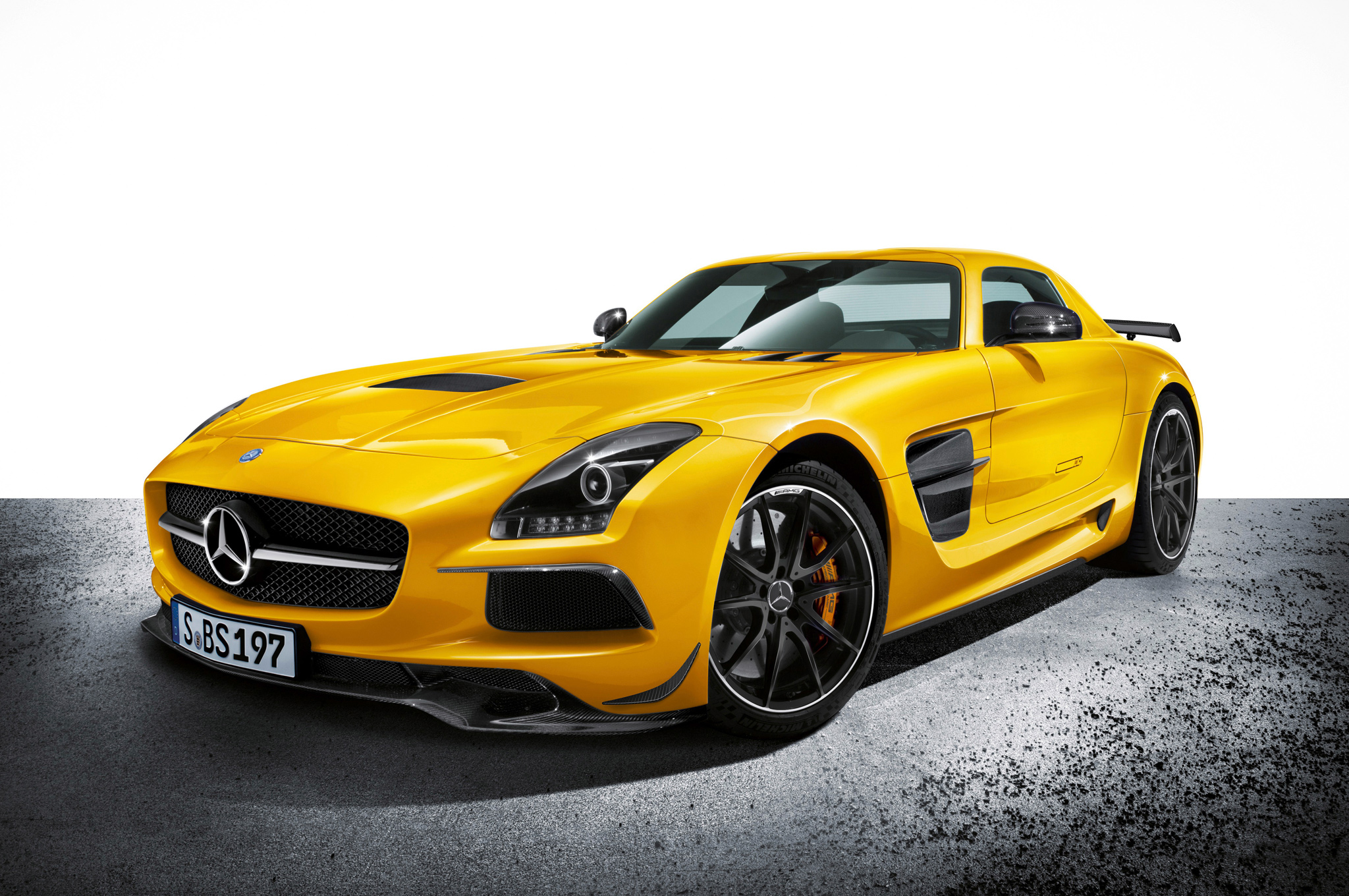 the mercedes-benz sls amg goes black for $278,000 - motor review
