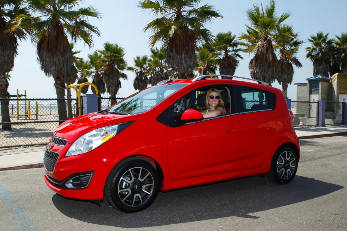 The spark is a small inexpensive hatchback with nice options read nissan versa