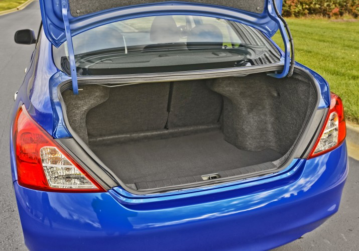 The Versa's dedicated trunk is nice, but we prefer hatchback versatility.