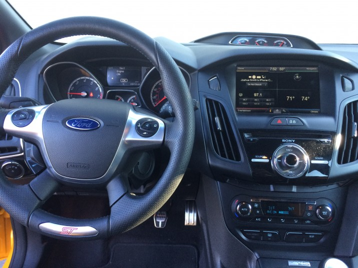 The Ford Focus ST includes a driver-centric cockpit.